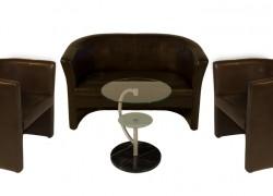 Kombo Leder,braun, 1x 2er Sofa + 2x Ledersessel + 1x Beistelltisch - Artikelnr. 0081