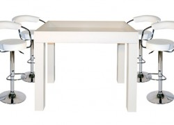 Kombo LED Tisch + 8 Stück Barhocker CELIO - Artikelnr. 088
