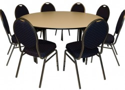 Kombo Bankett Tisch + 8 Stück Sessel Brilliant - Artikelnr. 0089
