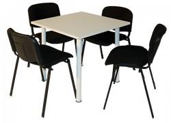 Kombo Tisch, 80x80 cm + 4x Sessel - Artikelnr. 0090